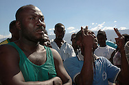 Residents of Cité Soleil, victims of a UN assault on their neighborhood in July 2005, describe the events of the attack which left 22 people dead. Port-au-Prince, Haiti, January 9, 2006.