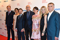 Alistair Petrie, Karima McAdams, Lynn Renee, Joe Dempsie, Mark Strong, Anastasia Griffiths pose at the photocall of 'Deep State' during MIPCOM (International Market of Communications Programmes) at Palais des Festivals et des Congres, Cannes<br />