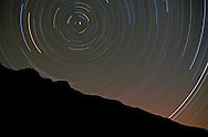 Star trails at night in the Missouri River Breaks. Charles M Russell National Wildlife Refuge, Montana