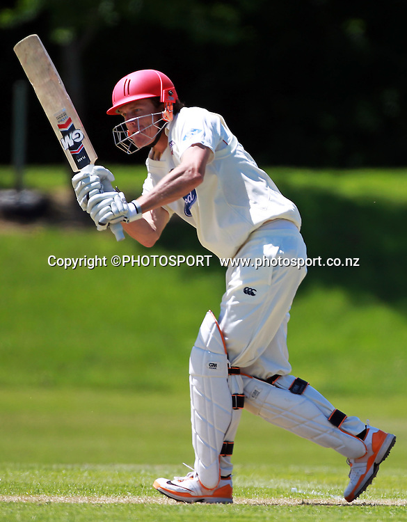 Canterbury batsmen Rob Nicol during play on the first day of the first game of the season. Canterbury Wizards v Otago Volts, Plunket Shield Game held at Mainpower Oval, Rangiora, Monday 07 November 2011. Photo : Joseph Johnson / photosport.co.nz