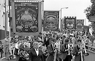 Maltby, Manton and Notts Area banners. 1990 Yorkshire Miner's Gala. Rotherham.