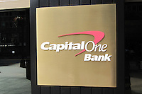 Logo, Capital One Bank, USA, 201110210174..Copyright Image from Victor Patterson, 54 Dorchester Park, Belfast, United Kingdom, UK...For my Terms and Conditions of Use go to http://www.victorpatterson.com/Victor_Patterson/Terms_%26_Conditions.html