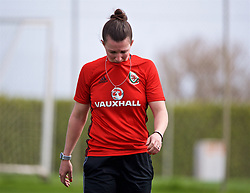 LARNACA, CYPRUS - Thursday, March 1, 2018: Wales' Helen Ward walks off with an injury during a training session in Larnaca on day three of the Cyprus Cup tournament. (Pic by David Rawcliffe/Propaganda)