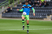 Forest Green Rovers Omar Bugiel(11) warming up during the EFL Sky Bet League 2 match between Forest Green Rovers and Accrington Stanley at the New Lawn, Forest Green, United Kingdom on 30 September 2017. Photo by Shane Healey.