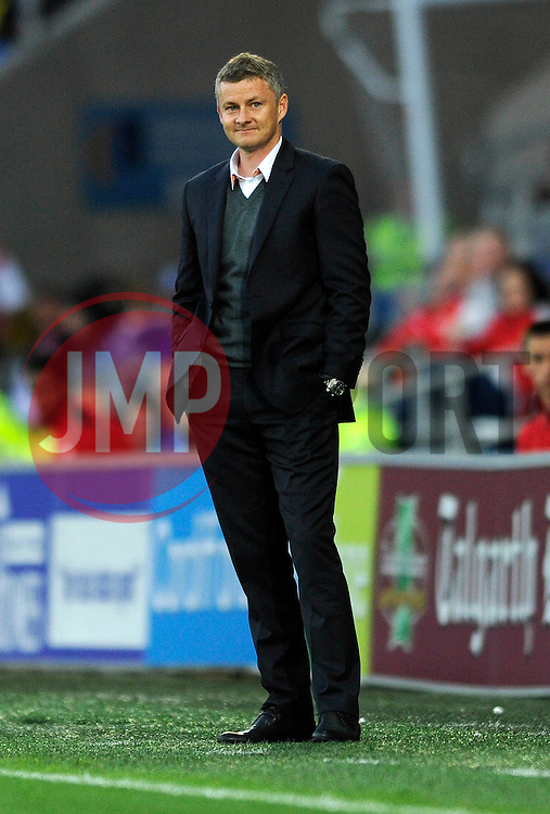 Cardiff City Manager, Ole Gunnar Solskjær - Photo mandatory by-line: Dougie Allward/JMP - Mobile: 07966 386802 19/08/2014 - SPORT - FOOTBALL - Cardiff - Cardiff City Stadium - Cardiff City v Wigan Athletic - Sky Bet Championship