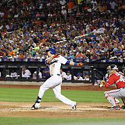 Wilmer Flores, New York Mets, batting during the New York Mets Vs Washington Nationals. MLB regular season baseball game at Citi Field, Queens, New York. USA. 1st August 2015. (Tim Clayton for New York Daily News)