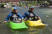 Eric Jackson and Stephen Wright during the Reno River festival