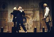 Giorgio Strehler, theatre director, during a rehearser of the play Arlecchino servitore di due padroni at Teatro dell'Arte in Milan, November 1976.