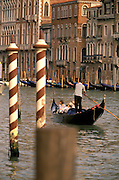 Venetian canals and gondolas.