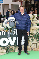 © Licensed to London News Pictures. 25/01/2015, UK. James Cracknell, Shaun the Sheep Movie - European Film Premiere, Leicester Square, London UK, 25 January 2015. Photo credit : Richard Goldschmidt/Piqtured/LNP