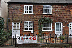 © Licensed to London News Pictures.  10/01/2012.WENDOVER, BUCKINGHAMSHIRE. A row of cottages standing directly in the path of the proposed route of the HS2 high speed train line, which is expected to have a large impact on Wendover during its construction and once complete.The cottages wi llbe demolished.  Photo credit :  Cliff Hide/LNP
