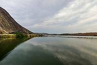 Minas Gerais - Brasil - 15/11/2015 - Barragem da hidrelétrica de Aimorés, no rio Doce, antes da chegada da lama proveniente das barragens da empresa Samarco que romperam em Minas Gerais. - Foto: Mosaico Imagem