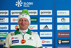 Joze Bercic of nordic combination team during Media day of Ski Association of Slovenia before new winter season 2014/15 on October 20, 2014 in Hisa Kulinarike Jezersek, Sora, Slovenia. (Photo by Matic Klansek Velej / Sportida)