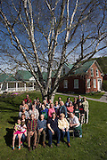 Community portrait at the Tunbridge Public Library in Tunbridge, Vt., on May 21, 2016. (Photo by Geoff Hansen)