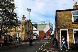 Turf Moor looms over nearby houses - Mandatory by-line: Robbie Stephenson/JMP - 30/08/2018 - FOOTBALL - Turf Moor - Burnley, England - Burnley v Olympiakos - UEFA Europa League Play-offs second leg