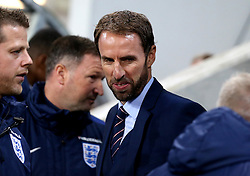 Interim England Manager Gareth Southgate has a rye smile on his face ahead of the fixture with Slovenia - Mandatory by-line: Robbie Stephenson/JMP - 11/10/2016 - FOOTBALL - RSC Stozice - Ljubljana, England - Slovenia v England - World Cup European Qualifier