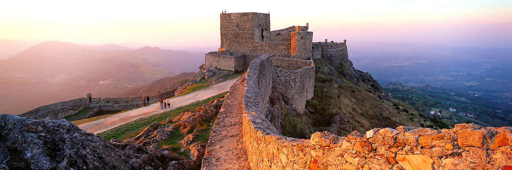 PORTUGAL, EAST CENTRAL Marvao, medieval walled hilltown on the border with Spain; 13thc castle above surrounding landscape