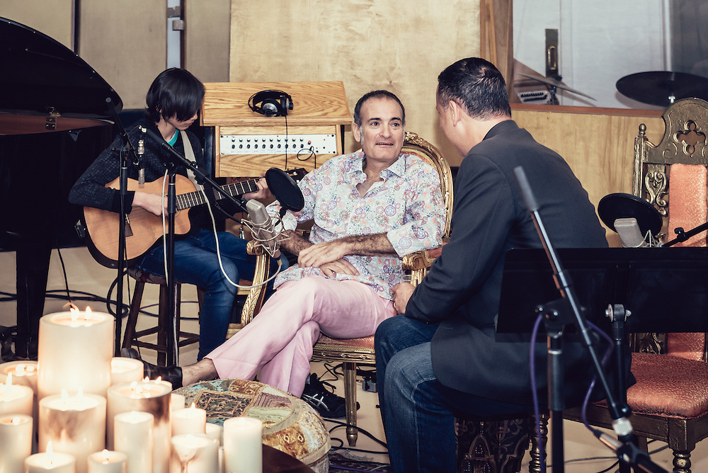 """Photographs of the Performance and recording of the song Perfect World by Linda and Ricardo Accorsi. Ricardo was recently diagnosed with ALS. He bravely took the news and decide to write, perform, and record """"Perfect World"""", along his friends in a full day celebration of life and courage."""
