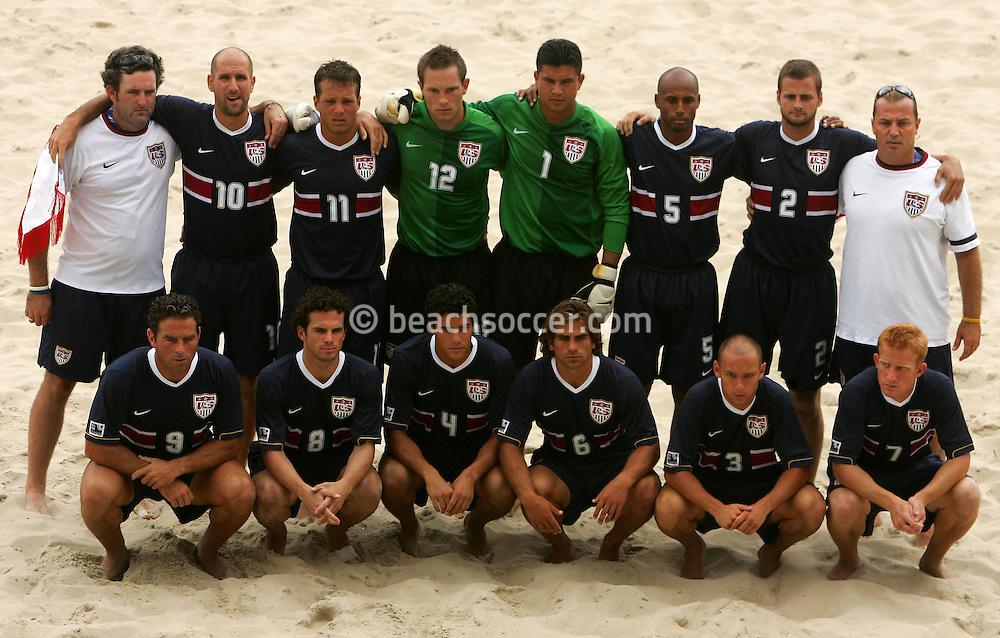 Football-FIFA Beach Soccer World Cup 2006 - Group B- Brazil - USA, Beachsoccer World Cup 2006. USA once team - Rio de Janeiro - Brazil 07/11/2006. Mandatory credit: FIFA/ Manuel Queimadelos