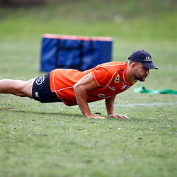 Jeremy Ward of the Cell C Sharks during the Cell C Sharks training session from theBox Hill Rugby Union Football Club  RHL Sparks Reserve, Canterbury Rd & Middleborough Road, Box Hill VIC 3128. Melbourne,Australia 20 February 2020. (Photo Steve Haag Sports -Hollywoodbets)