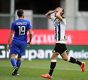 Udine, 01 febbraio 2015<br /> Serie A 2013/2014. 21^ giornata.<br /> Stadio Friuli.<br /> Udinese vs Juventus..<br /> Nella foto: delusione del centrocampista dell'Udinese Borges Bruno Fernandes.<br /> © foto di Simone Ferraro