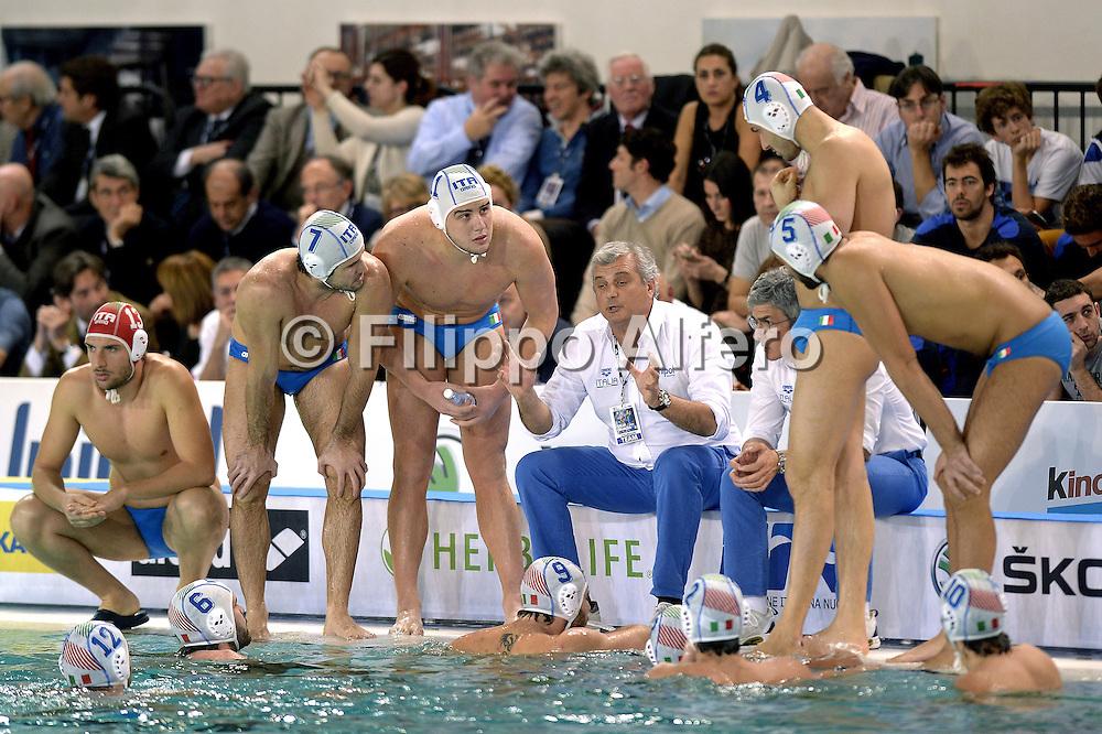&copy; Filippo Alfero<br /> Italia-Croazia, Pallanuoto, World League 2015<br /> Torino, 20/01/2015<br /> sport pallanuoto<br /> Nella foto: