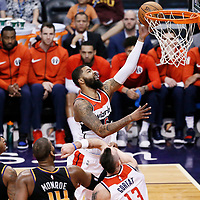 07 December 2017: Washington Wizards forward Markieff Morris (5) goes for the layup during the Washington Wizards 109-99 victory over the Phoenix Suns, at the Talking Stick Resort Arena, Phoenix, Arizona, USA.