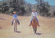 The Reagans at their Ranch