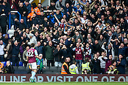 Gary Gardner of Aston Villa (left) celebrates in front of the fans after scoring during the Sky Bet Championship match at St Andrews, Birmingham<br /> Picture by Andy Kearns/Focus Images Ltd 0781 864 4264<br /> 30/10/2016
