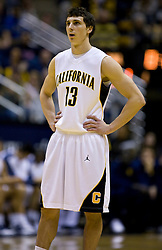 February 13, 2010; Berkeley, CA, USA;  California Golden Bears guard Nikola Knezevic (13) during the first half against the Washington State Cougars at the Haas Pavilion. California defeated Washington State 86-70.