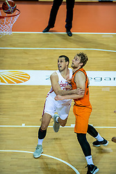 24-11-2017 NED: WC qualification Netherlands - Croatia, Almere<br /> First Round - Group D at the arena Topsportcentrum / Henk Norel #23 of Netherlands, Darko Planinic #12 of Croatia