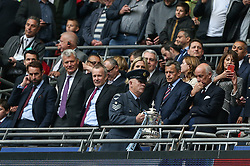 England manager Gareth Southgate watches on as the FA Cup is bought out - Mandatory by-line: Arron Gent/JMP - 18/05/2019 - FOOTBALL - Wembley Stadium - London, England - Manchester City v Watford - Emirates FA Cup Final