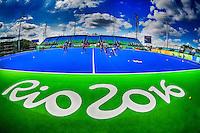 RIO DE JANEIRO (Brazilie) - De heren  van Oranje trainen vanmorgen in het Olympische hockeystadion COPYRIGHT KOEN SUYK