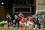 Nottingham Forest Captain Ben Watson heads the ball clear during the EFL Sky Bet Championship match between Nottingham Forest and Charlton Athletic at the City Ground, Nottingham, England on 11 February 2020.