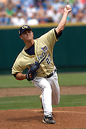 Georgia Tech starting pitcher Lee Hyde pitched seven innings, giving up two runs on three hits against Clemson.  The Clemson Tigers came from behind to score eight runs in the eighth inning and defeat Georgia Tech 8-4 in the first game of the College World Series at Rosenbaltt Stadium in Omaha, Nebraska, June 16, 2006.  .