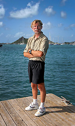 06 April 2011. St Maarten, Antilles, Caribbean.<br /> Dr Andrew Bainbridge of Alberta, Canada.<br /> After more than 9 weeks at sea, having started in the Canary islands, captain of the 'Antiki' transatlantic raft  arrives in St Maarten in the Caribbean following an epic voyage. The incredible vessel is crewed by Anthony Smith (84 yrs old) British adventurer, David Hildred, sailing master and British Virgin Islands resident, Dr Andrew Bainbridge of Alberta, Canada and John Russell, solicitor and UK resident.<br /> Photo; Charlie Varley/varleypix.com