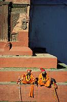 Nepal - Vallée de Kathmandu - Kathmandu - Durbar Square - Sadhu, saint homme hindou - Yogi
