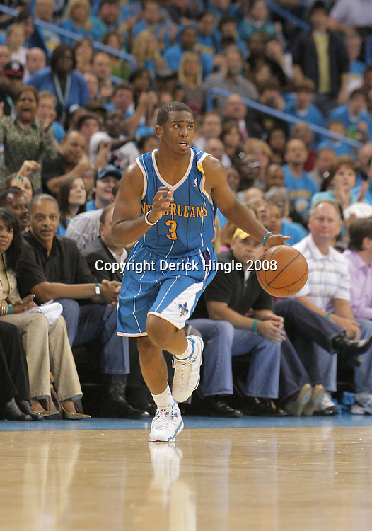 01 November 2008: New Orleans Hornets guard Chris Paul (3) in action during a 104-92 win by the New Orleans Hornets over the Cleveland Cavaliers at the New Orleans Arena in New Orleans, LA..