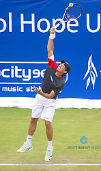 LIVERPOOL, ENGLAND - Friday, June 21, 2013: Martin Alund during Day Two of the Liverpool Hope University International Tennis Tournament at Calderstones Park. (Pic by David Rawcliffe/Propaganda)