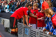 Manchester United Women defender Abbie McManus (5) after the match during the FA Women's Super League match between Manchester City Women and Manchester United Women at the Sport City Academy Stadium, Manchester, United Kingdom on 7 September 2019.