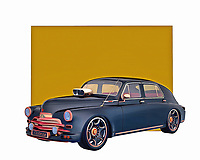 A classic design with a great deal of history behind it, this digital painting from Jan Keteleer is a grand example of the sorts of cars that defined the 1940s and 1950s. They simply do not make cars as simple and refined as this one. It is a true powerhouse in every sense of the word. .<br />