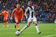 West Bromwich Albion forward Jay Rodriguez (19) holds the ball up during the EFL Sky Bet Championship match between West Bromwich Albion and Millwall at The Hawthorns, West Bromwich, England on 22 September 2018.