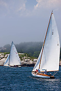 Surprise and Wistful, S Class, sailing in the Robert H. Tiedemann Classic Yachting Weekend race 1.