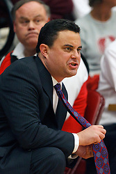 Feb 4, 2012; Stanford CA, USA; Arizona Wildcats head coach Sean Miller on the sidelines against the Stanford Cardinal during the first half at Maples Pavilion.  Arizona defeated Stanford 56-43. Mandatory Credit: Jason O. Watson-US PRESSWIRE