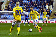 Barry Douglas (3) of Leeds United during the EFL Sky Bet Championship match between Reading and Leeds United at the Madejski Stadium, Reading, England on 12 March 2019.