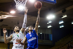 Devin Oliver #5 of KK Union Olimpija vs Darwin Davis Jr of Rogaska during basketball match between KK Union Olimpija and KK Rogaska in 2nd Final game of Liga Nova KBM za prvaka 2016/17, on May 19, 2017 in Hala Tivoli, Ljubljana, Slovenia. Photo by Vid Ponikvar / Sportida