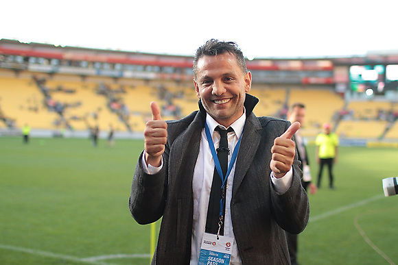 Club owner Terry Serepisos poses for the camera at the end of a game opposing Wellington Phoenix to Newcastle Jets, at Westpac Stadium, on 07 March 2010.<br /> <br /> Supported by a record crowd of 34,500 fans and unbeaten on home soil for 18 matches, the Wellington Phoenix battled Newcastle Jets for a place in the final game of the 2009-2010 Hyundai A-League championship.