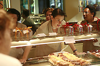 Lyon, France..in the chocolate and pastry shop, Bernachon, on Cours Franklin Delano Roosevelt in Lyon's chic 6th arrondissement..