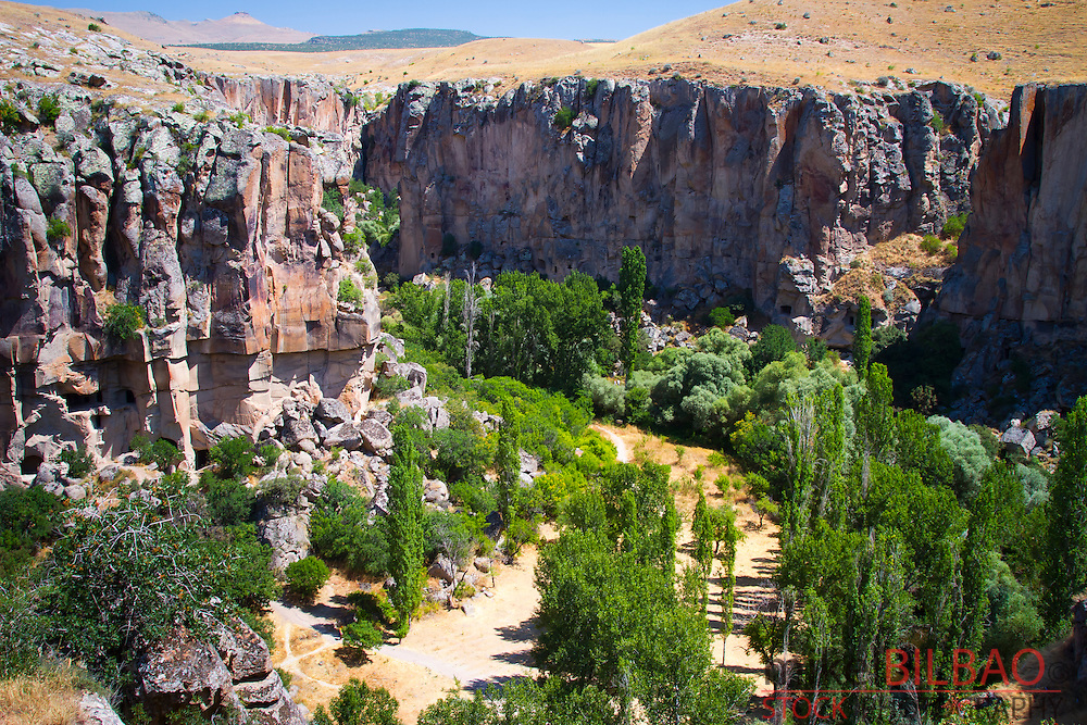 Ihlara Valley and Melendiz Stream. Aksaray province. Cappadocia, Turkey.