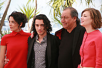 Nailia Harzoune, Rachid Youcef, Director Tony Gatlif and Céline Sallette at the photo call for the film Geronimo, at the 67th Cannes Film Festival, Tuesday 20th May 2014, Cannes, France.